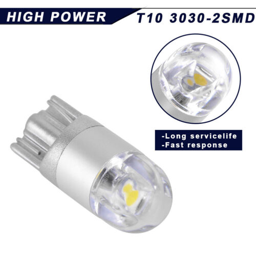 4x High Power T10 3030 LED White Dome Map Interior Light Side Bulbs 168 194 175