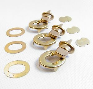 DOT Turn Button 2 Hole Fastener w// Eyelet /& Clinch Plate