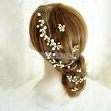 Golden Leaves Hair Accessories for Bride Bridesmaid Wedding Hair Jewelry