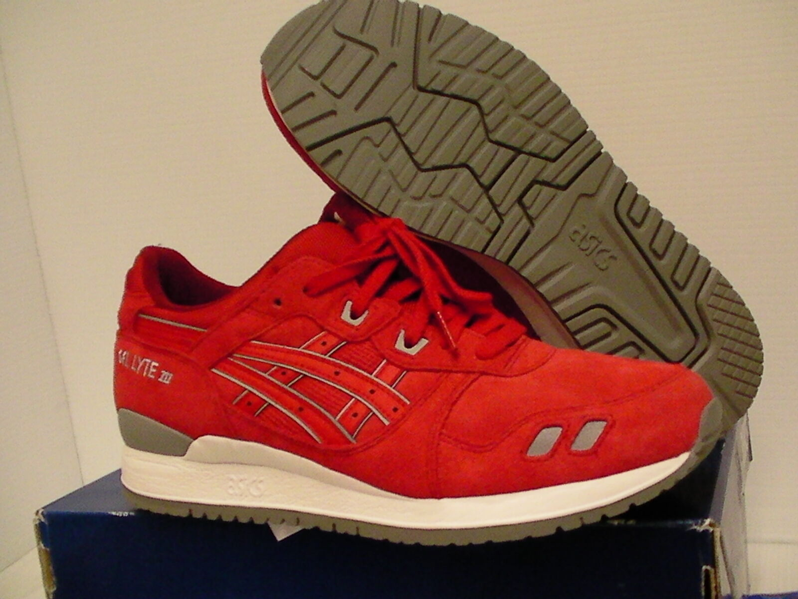 Asics running 9.5 shoes gel-lyte iii size 9.5 running us men red new with box 804c94