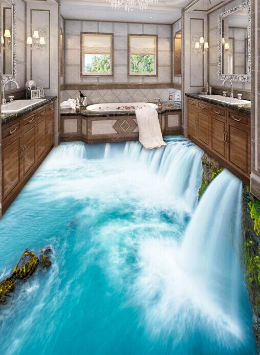 3D Wasserfall 86 Fototapeten Wandbild Fototapete Tapete Familie DE Lemon