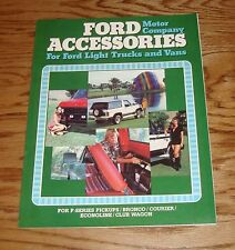 Original 1980 Ford Truck & Van Accessories Sales Brochure 80 Bronco Pickup
