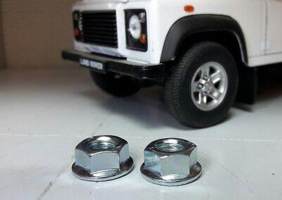 Land Rover Defender TD5 TDCi Limpiaparabrisas Brazo Hoja Eje asegurar Brida Tuercas x2