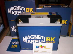 Batteria litio magneti marelli ion14 12n16ah 51814 51913 12n20ah bs