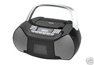 NAXA-Electronics-NPB-268-Portable-CD-Cassette-Boombox-AM-FM-Radio-Player-NEW