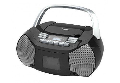 NAXA Electronics NPB-268 Portable CD//Cassette Boombox AM//FM Radio Player NEW