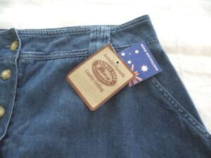 THOMAS-COOK-BOOT-and-CLOTHING-CO-WOMENS-LONG-COTTON-VINTAGE-DENIM-SKIRT-SIZE-18