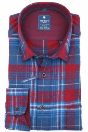 202300111 Herren Flanell Hemd mit Kent Kragen Redmond Regular Fit