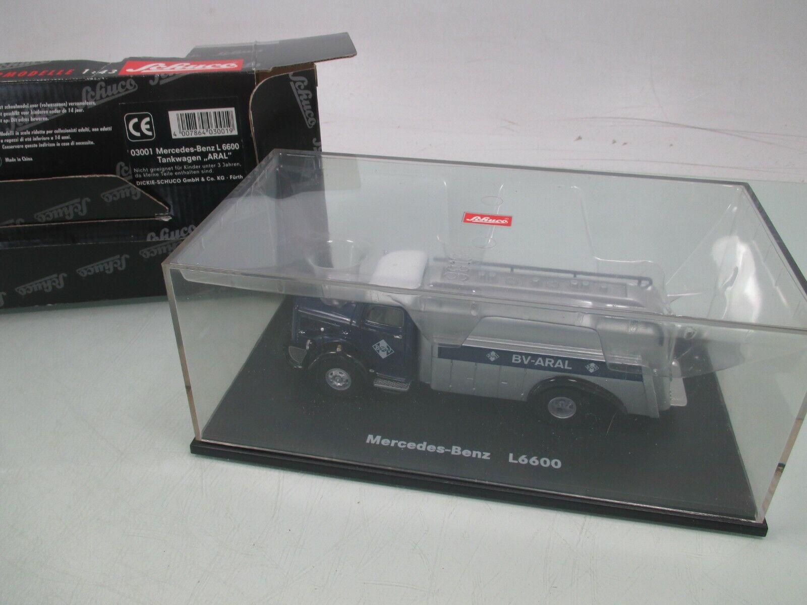 Schuco 1 43 03001 Mercedes-Benz  l6600 camion citerne  ARAL  M. neuf dans sa boîte (wm6044)  produit de qualité d'approvisionnement