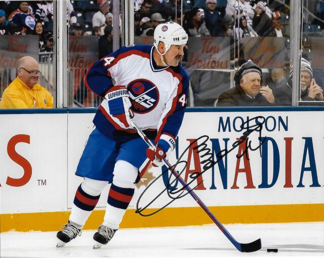 Winnipeg Jets Dave Babych Signed Autographed 8x10 NHL Photo COA B