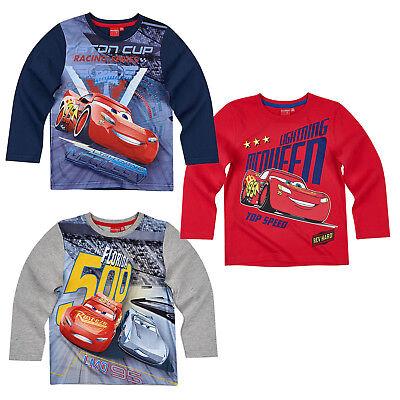 Neu Disney Cars Jungen Shirt Sweatshirt Langarmshirt 122//128 Gr 110//116