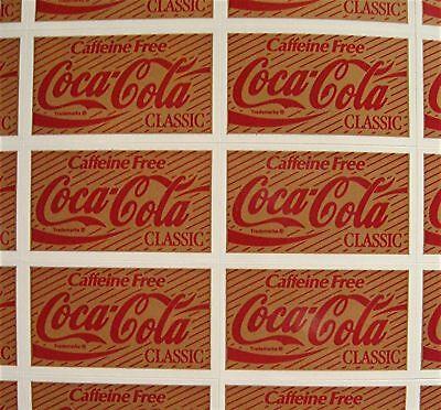 44 Coca Cola Classic Stickers Coca Cola USA Adv Sheet