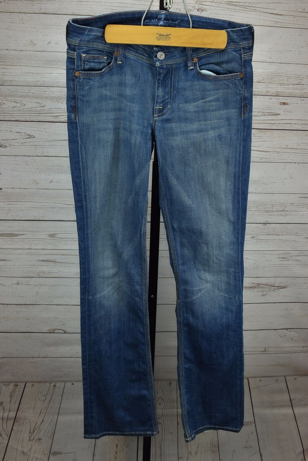 Seven 7 of Mankind Size 28 Flynt Jeans bluee Medium Wash 33