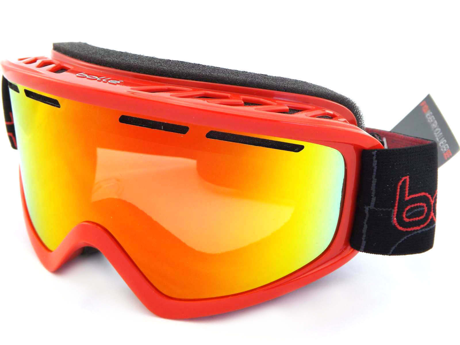 Bolle Schuss Mittlere Passform Schuss Bolle Ski Snowboardbrille Glänzend Rot/Sonnenaufgang a24252