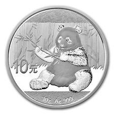 Piece en argent 10 Yuan Panda Chine 2017 30 grammes silver Panda China