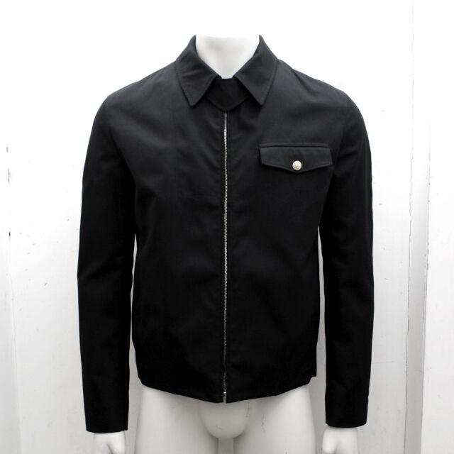 NEW Mens Dior Homme Black Zip Blouson Jacket Coat GENUINE RRP £1100 Size 56 XXXL