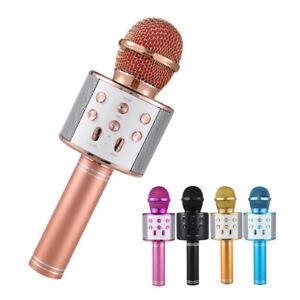 Wireless-Bluetooth-Karaoke-Microphone-Stereo-Mic-KTV-USB-Speaker-Player-WS858