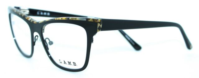 LA022 BLK 51//16 BLACK Womens Optical Eyeglasses Frame L.A.M.B