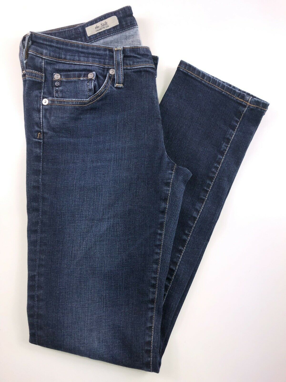 Adriano goldschmied Stilt CIgarette Leg Dark Wash Jeans 27R. 27x29x7x11