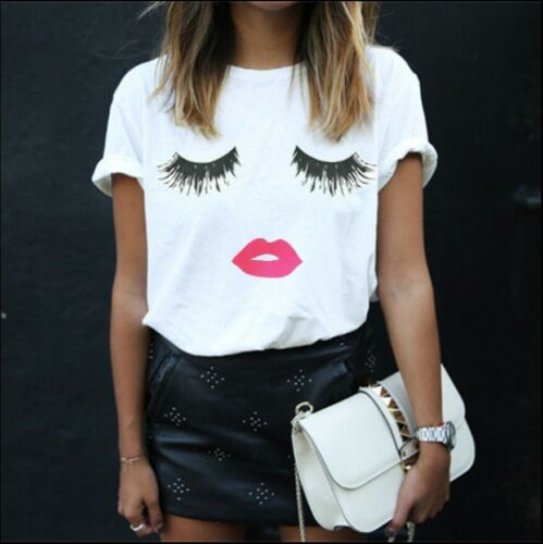 Damen Sommer T-shirts Top Kurzarm Oberteil Blusen Shirt Übergröße Freizeit Tops