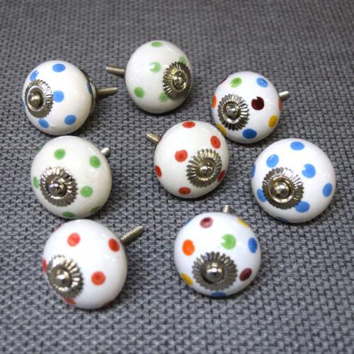 Mixed Set Packs of Ceramic Porcelain Cupboard Door Drawer Knobs Pulls Vintage