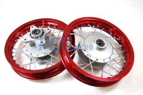 "Front Rear Alum wheels rims 10/"" w// Brake Shoes STOCK CRF50 XR50 Dirt Bike RMFR+"
