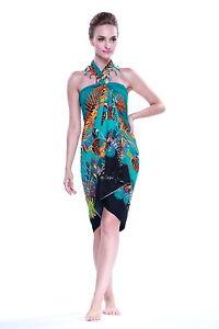 45d363a57933f Sarong Dress Swim Cover Cruise Beach Luau Wrap Shawl Pareo Fish Sea ...