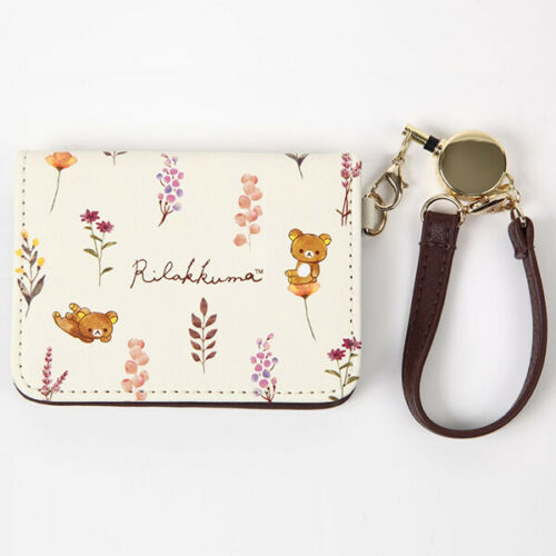 Rilakkuma Pass Case Beige Botanical San-X Japan