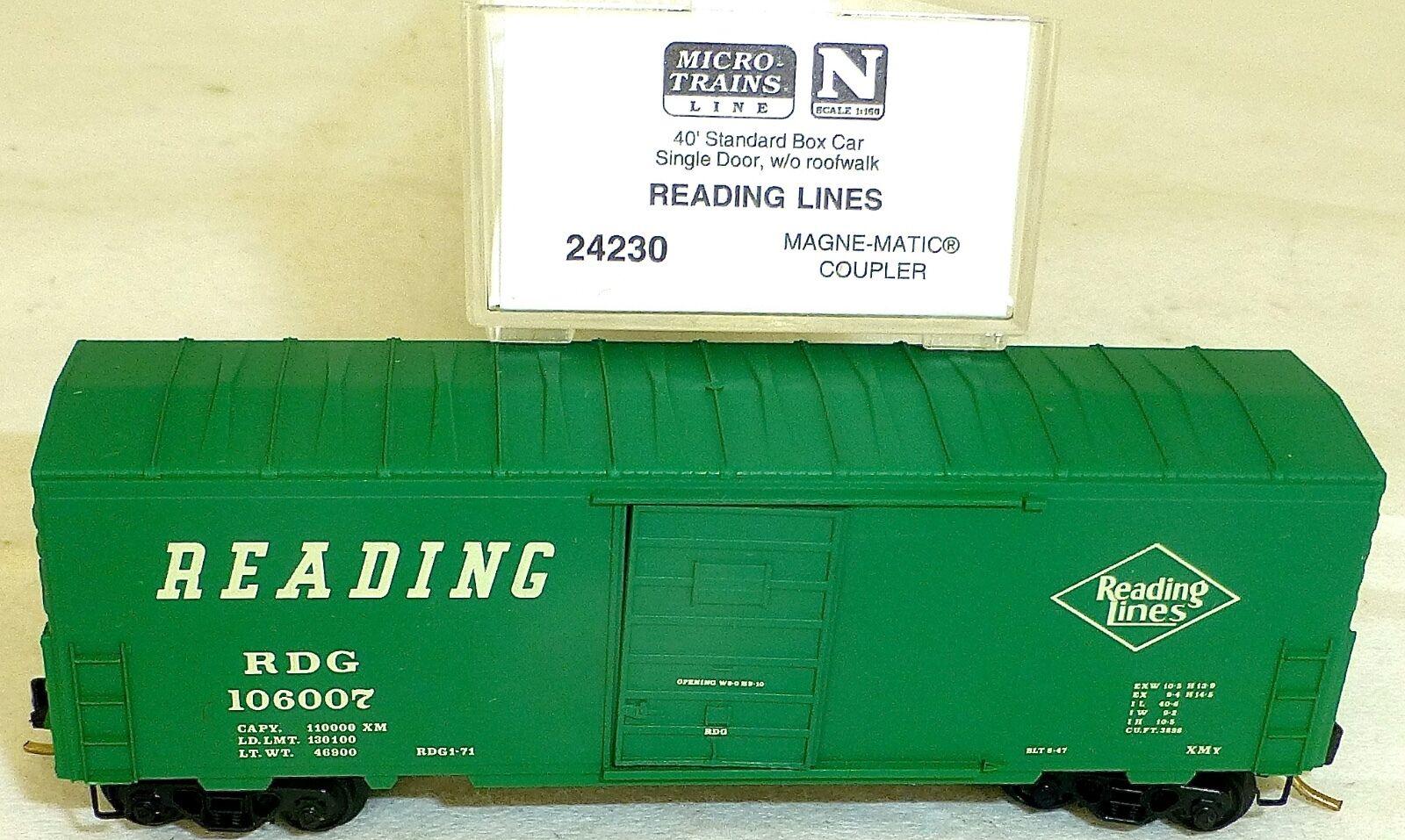 Reading Lines 40' Box Car Single Door Micro Trains 24230 N 1 160 Original