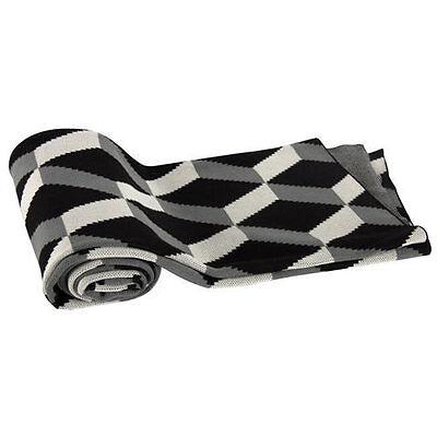 "Cotton Cashmere-Like Throw Blanket 50x60"" Black - T37582BLAC"