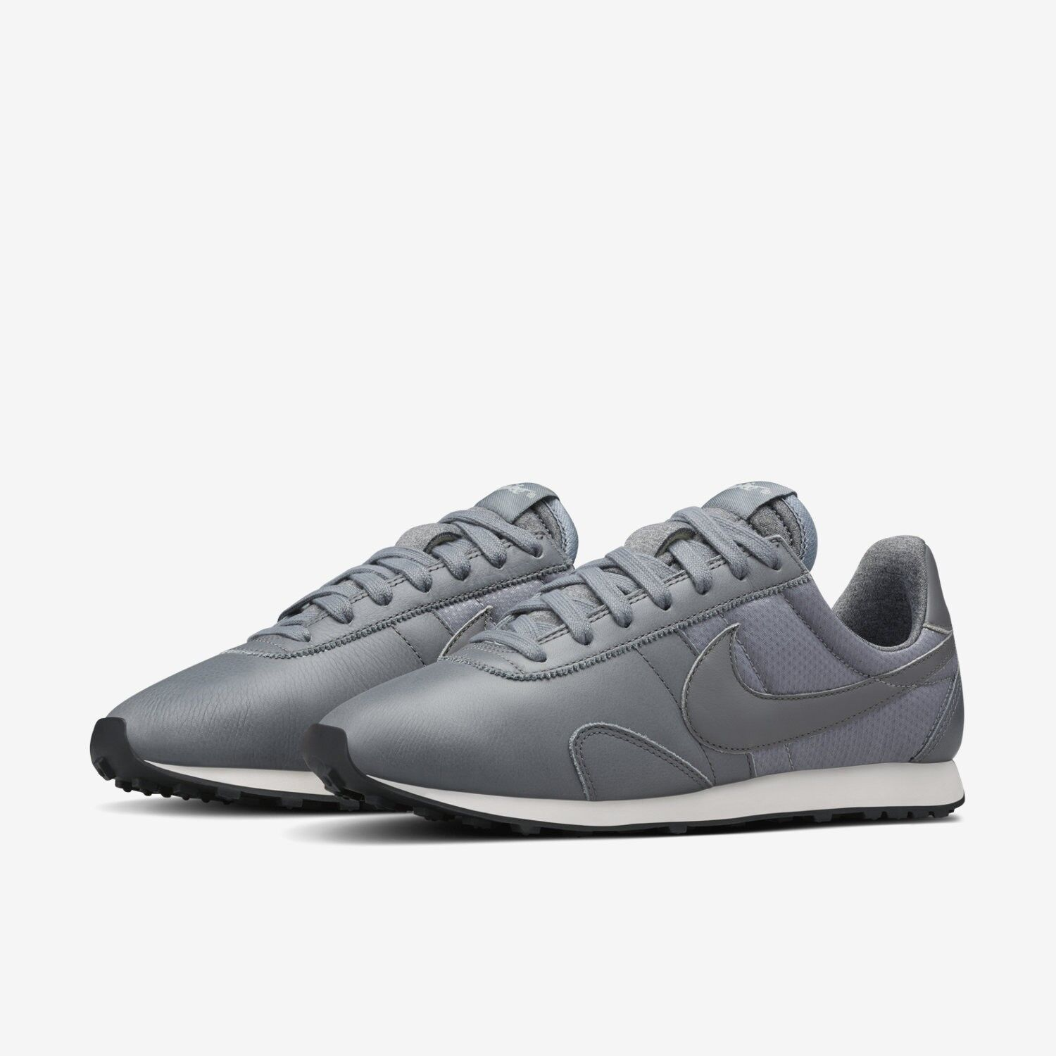 NIKE PRE MONTREAL RACER PINNACLE LEATHER WOMEN'S SHOES SIZE US 7 GREY 839605-002
