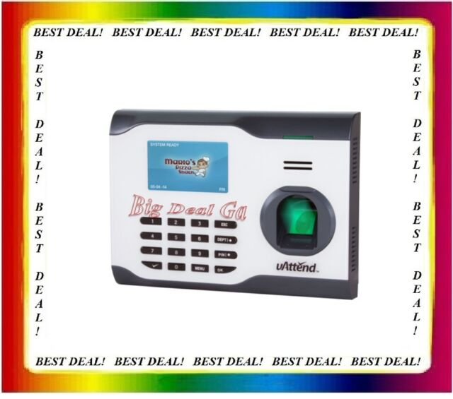 uAttend Bn5000 Biometric Fingerprint Time Clock