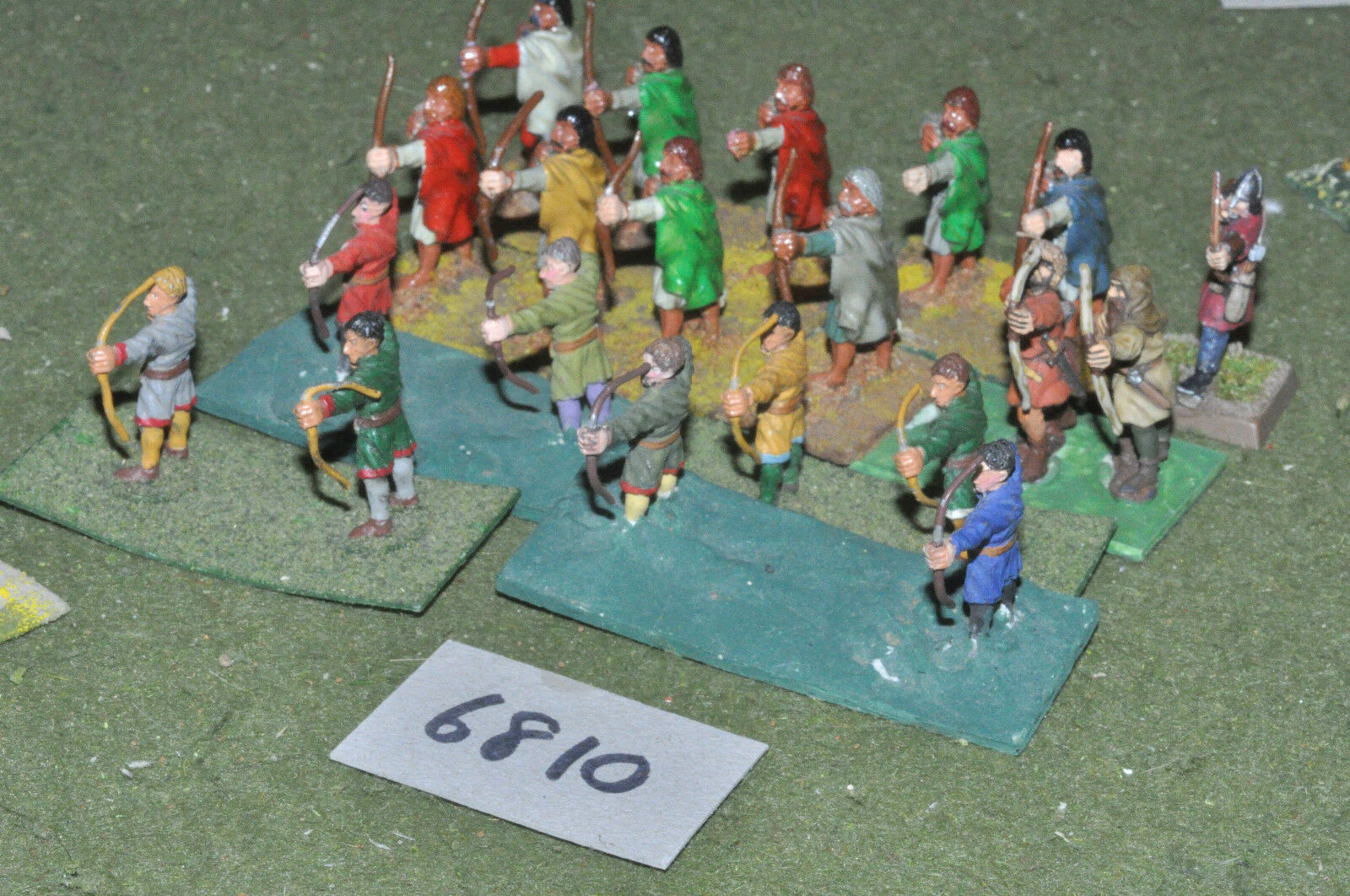 25mm medieval   generic - archers 20 figs metal painted - inf (6810)