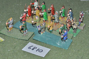 25mm-Medievale-Generic-Arcieri-20-Fichi-in-metallo-verniciato-INF-6810