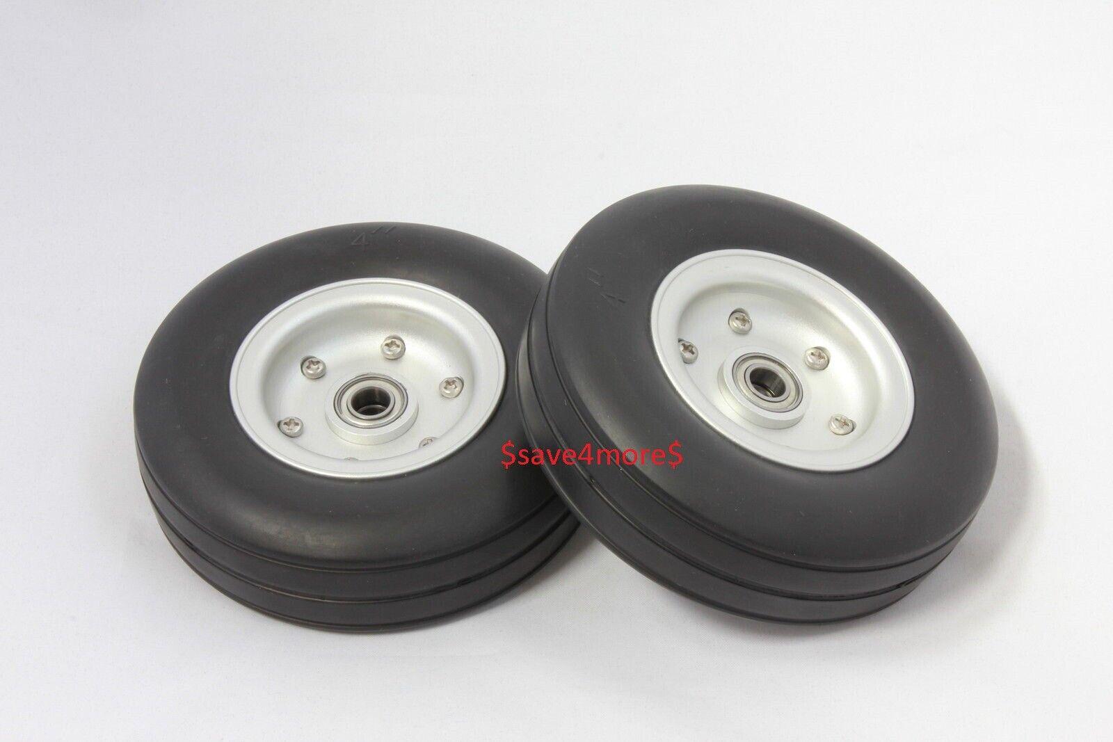 4.0  Aleación de Aluminio Core Goma Natural Ruedas Neumáticos para Rc Avión