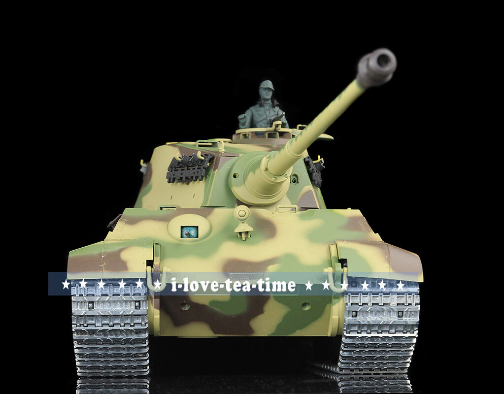 HengLong 1 16 German King Tiger Henschel RC RTR Tank Upgraded Metal Smog 3888A-1