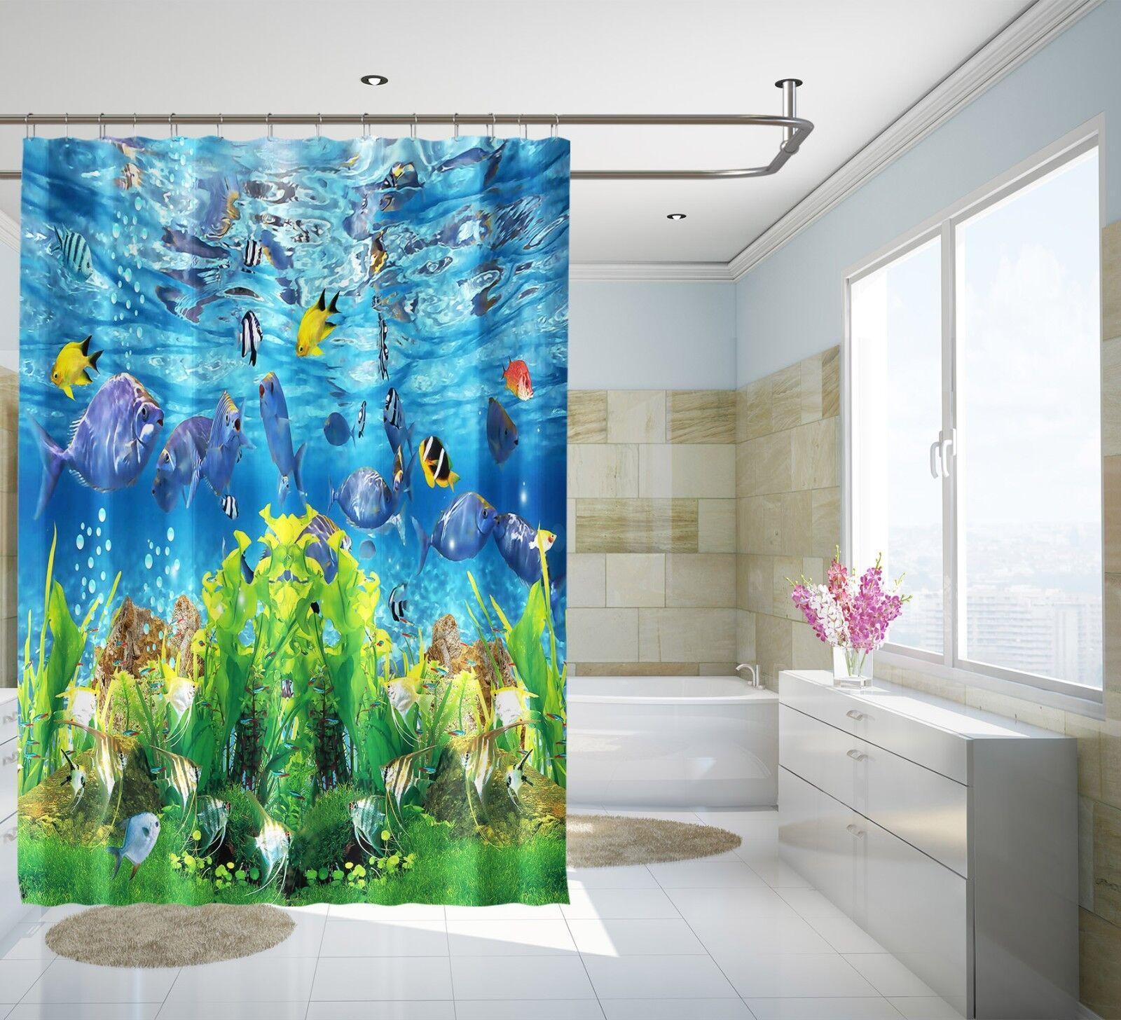 3D Delphin Fisch 2 Duschvorhang Wasserdicht Faser Bad Daheim Windows Toilette DE | Ausgezeichnete Leistung