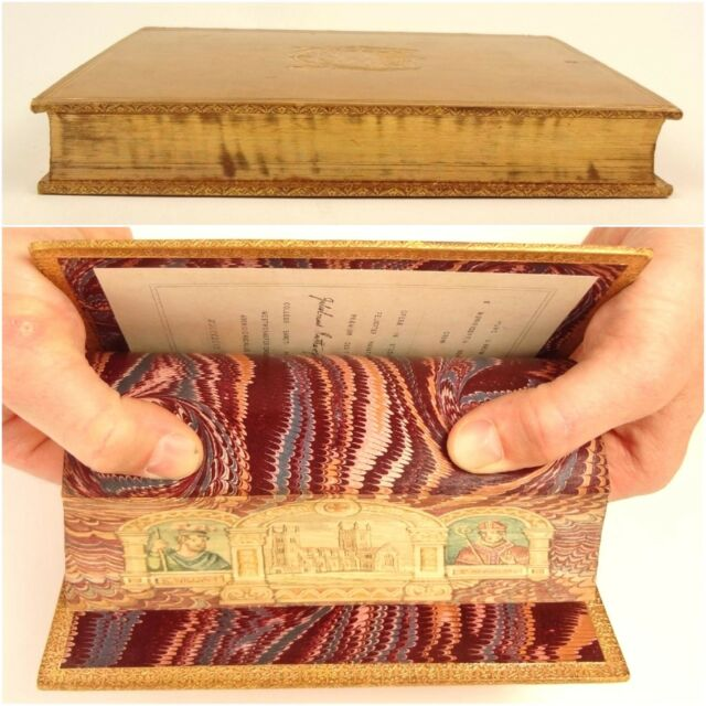 1895. Fore-edge painting of Westminster. St. Anselm. Prize Binding, Sotheran.