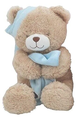 Animal Alley Stuffed Sleepy Teddy Bear Blue 16 Inch Ebay