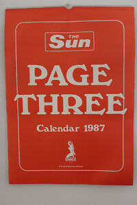 The-Sun-Page-3-1987-Calendar-Very-Rare-Collectors-Item-NEW-MINT