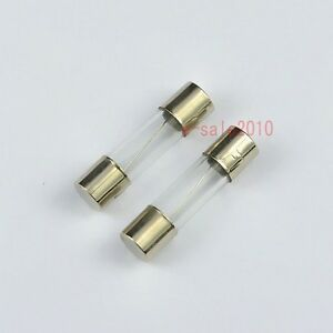 100pcs Auto 250V 15A Quick Acting Glass Tube Fuses Fast Blow 5mm x 20mm