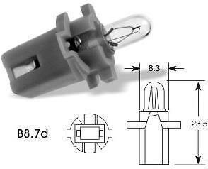 Lampara 125F grey 12v 1.2w B8.7d lamp a5543v gris 3x Bombilla