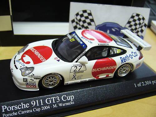 Porsche 911 gt3 Cup Carrera relieurs warnec pma Minichamps 1 43