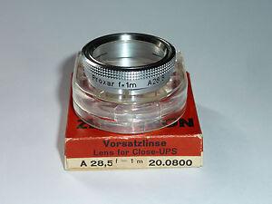 Carl Zeiss Proxar Nahlinse /Close-Up f=1m Aufsteck /slip-on 28,5mm