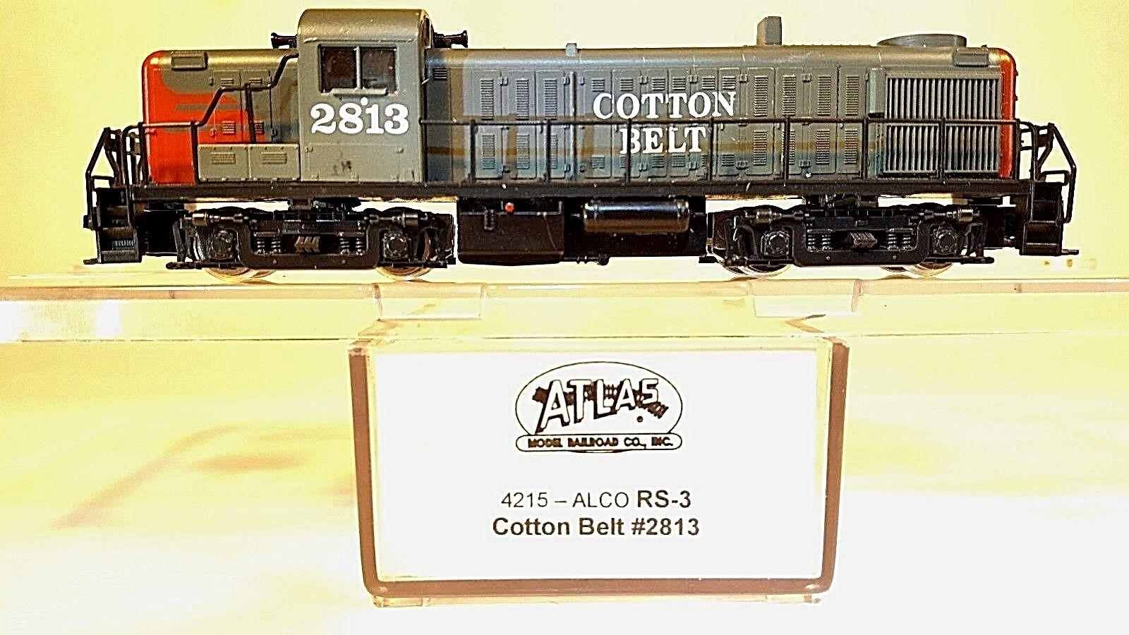 Atlas N 4215 Locomotora de cinturón de algodón RS-3 (probados) (Nudillo cplrs)