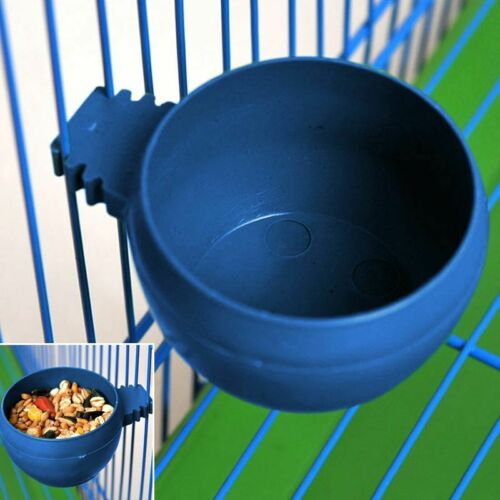 5Pcs Parrots Feeding Bowls Round Food Water Feeders for Bird Pet Cage Hanging