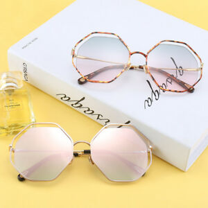 7f4a0d8b221e Image is loading 2019-Metal-Leopard-Frame-Polygon-Sunglasses-Women-Octagon-