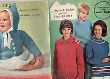 VINTAGE KNITTING PATTERN BOOKLET FAIRY SOAP WOMAN MAG 8 DESIGNS LADIES GENTS ECT