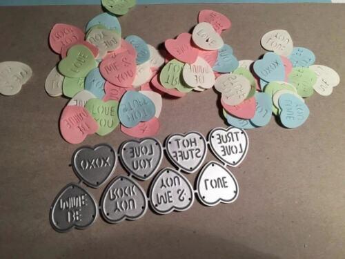 8 Love Heart sweet cutting dies metal die cutters Stencil UK seller
