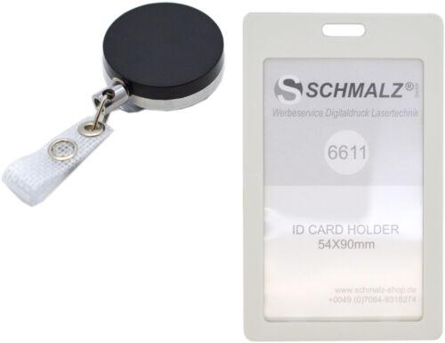 Kartenhalter mit Ausweisjojo  Ausweishülle Hochformat Skipasshalter Werksausweis